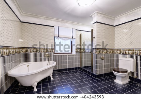 the interior of bathroom - stock photo