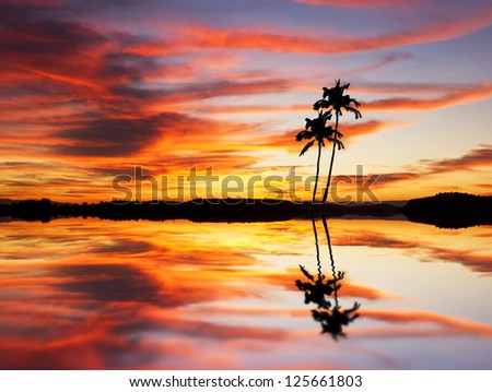 The island of colors - stock photo