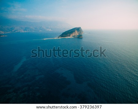 The island of St. Nicholas of Montenegro - stock photo