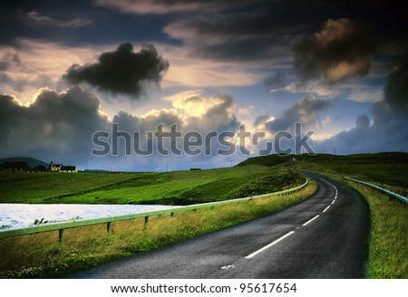 the isle of skye in Scotland, Great Britain UK - stock photo
