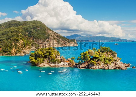 The Islet of Virgin Mary, Parga, Greece - stock photo