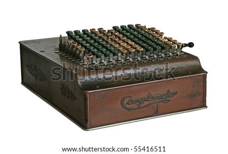 The isolated computer of 1965 - stock photo