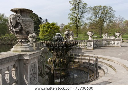 The Italian Fountains in Hyde Park, London, England. - stock photo