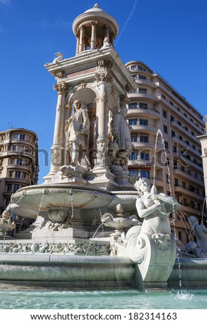 The Jacobin's Fountain in Lyon, France  - stock photo
