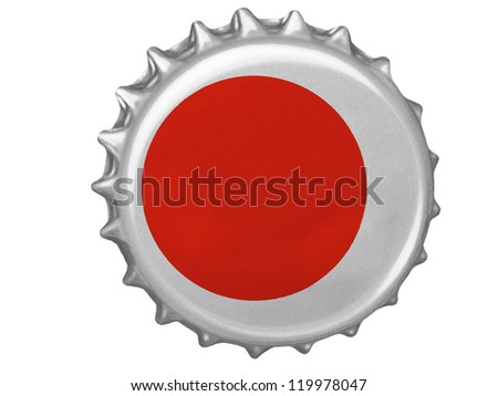 The Japan flag painted on  stopper - stock photo