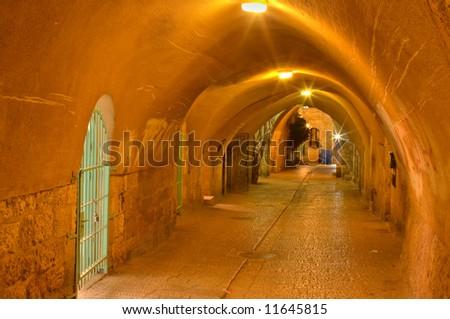 The Jerusalem streets - stock photo