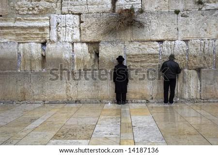 the jerusalem wailing wall, jerusalem, israel - stock photo