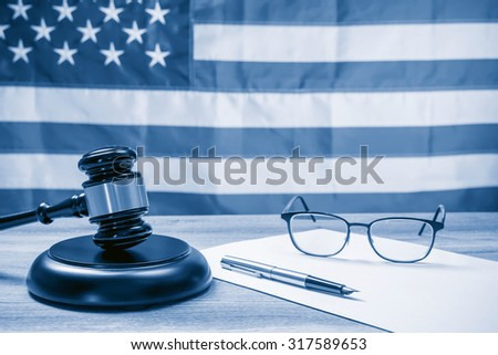 The judicial concept, dual tone - stock photo