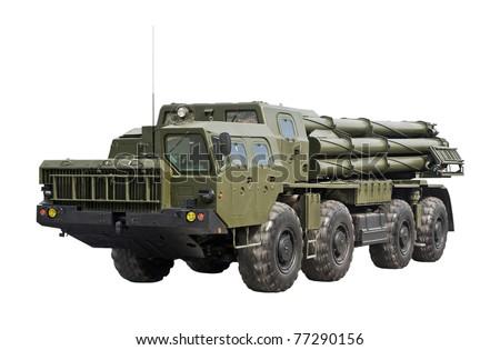 The 9K58 Smerch 300mm Multiple Launch Rocket System (MLRS) - stock photo