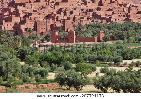 The Kasbah of Ait Benhaddou, Morocco  - stock photo