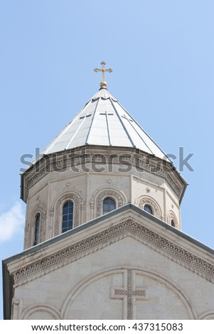 The Kashveti Church of St. George in central Tbilisi, located on Rustaveli Avenue - stock photo
