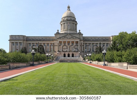 The Kentucky State Capitol Building in Frankfort, Kentucky. - stock photo