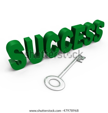 The key to success - a 3d image - stock photo