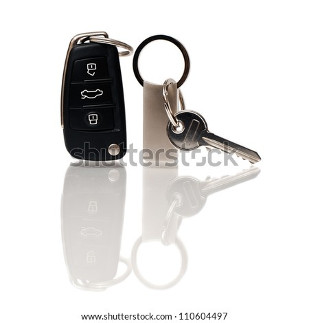 The keys from the house and the car - stock photo