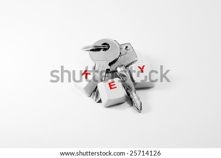 The Keys with Keywords - stock photo