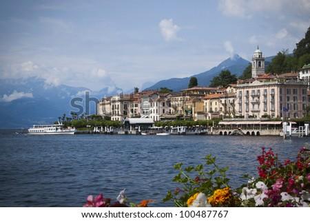 The lakeside town of Bellagio on Lake Como, Italy. - stock photo