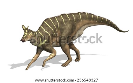 The Lambeosaurus was a dinosaur that lived during the Cretaeous Period - 3d render. - stock photo