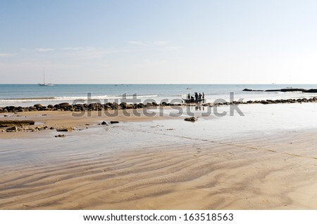 The landscape with a beach and the sea. Madagascar - stock photo