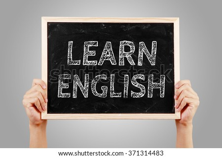 The language learning concept of Learn English for English Education. - stock photo