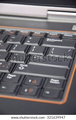 The Laptop keyboard - stock photo