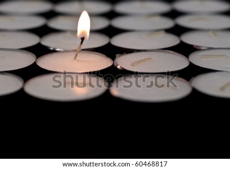 The Last Flame Conceptual Image - stock photo