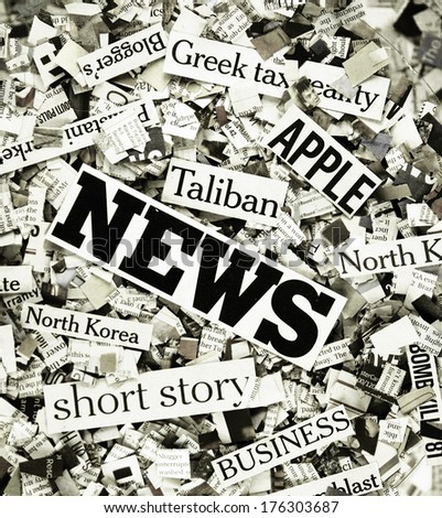 the latest news ! - stock photo