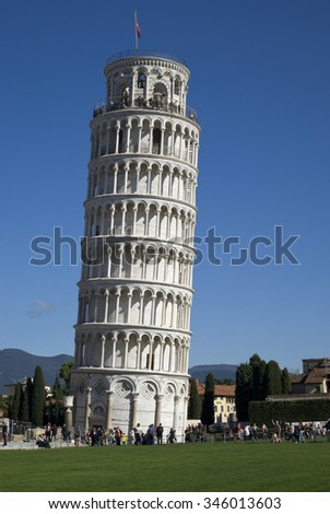 The Leaning Tower of Pisa - stock photo