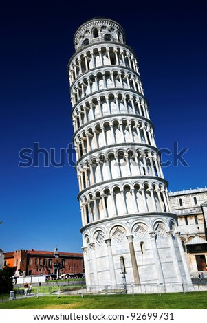 The Leaning Tower, Pisa, Italy, Europe - stock photo