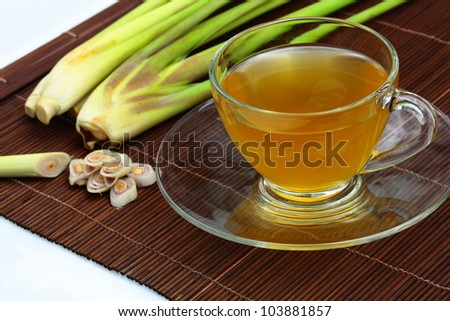 The lemon grass and lemon grass tea. - stock photo