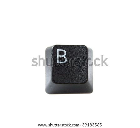 The Letter B From a Black Keyboard - stock photo