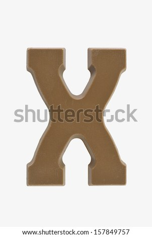 The letter  X , special candy for the Sinterklaas celebration - stock photo