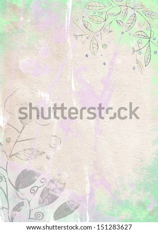 the light vertical background with splashes and onrate in the grunge style - stock photo