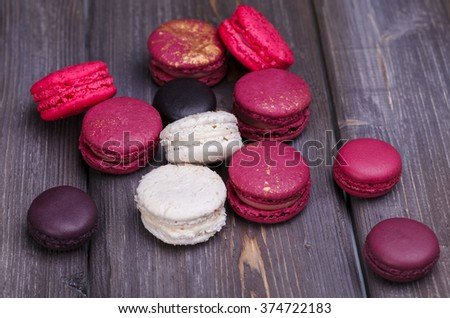 the lilac macaroons - stock photo