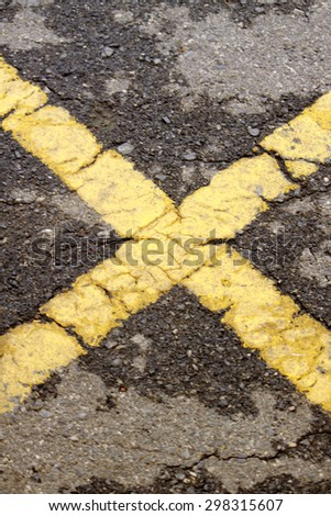 The line on the way - stock photo