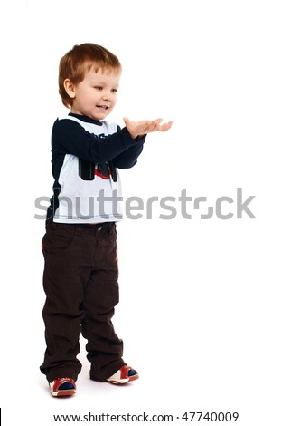 The little boy - stock photo