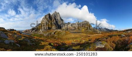 The Lofoten Islands, Norway, panorama  - stock photo