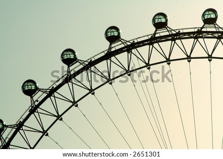 The London Eye, or the Eye of the Millennium, of British Airways in London on Thames - stock photo