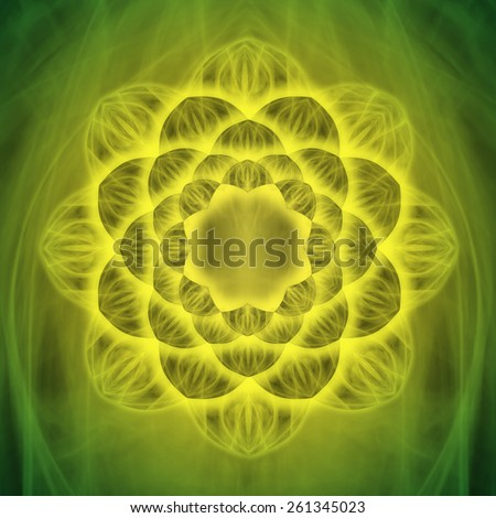 The lotus flower represents transformation in Buddhist philosophy and its fractal structure has to do with sacred geometry in general and reminds me of Tibetan mandalas too.  - stock photo