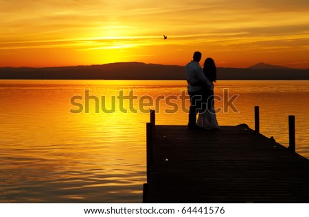 The love and nature - stock photo