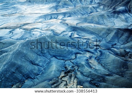The lunar surface is a desert in Utah, USA - stock photo
