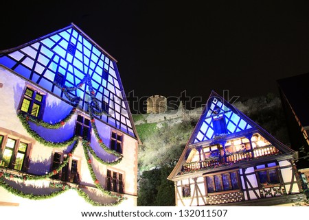 The magic of Christmas to Kaysersberg in Alsace - stock photo