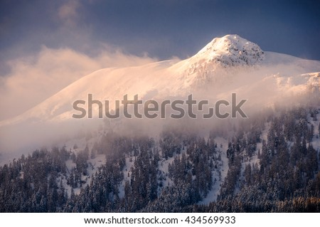 The Majestic Birgitzkopfl mountaintop in Austria - stock photo