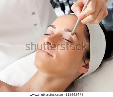 The make up of a beautiful woman - stock photo