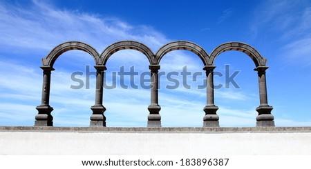 The Malecon Arches - stock photo