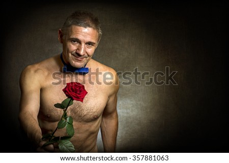 The man with a rose - stock photo