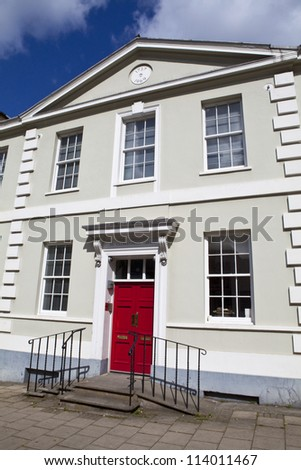 The Marx Memorial Library located on Clerkenwell Green in London. - stock photo