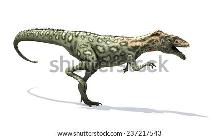 The Masiakasaurus was a small dinosaur that lived during the Cretaceous period - 3d render. - stock photo