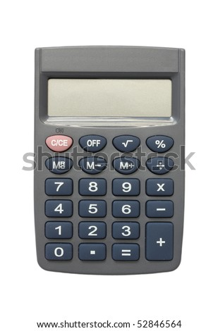 The mathematical calculator isolated on a white background. - stock photo