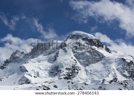 the matterhorn and surrounding mountians in the Swiss Alps - stock photo