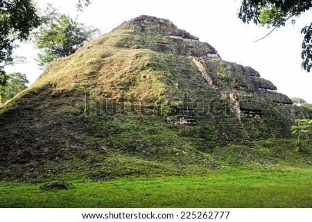 The Mayan ruins of Tikal on Guatemala - stock photo